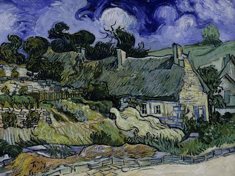 Vincent van Gogh - Page 6 Vincent-van-gogh-straw-decked-houses-in-auvers-sur-oise-c-1890