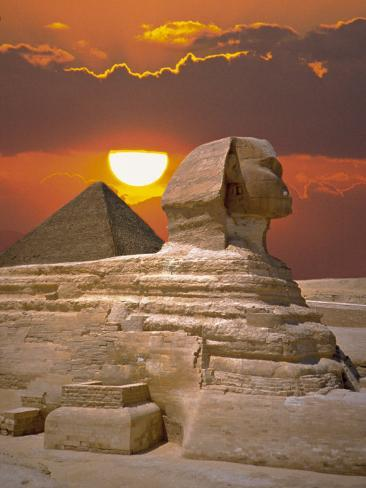Up Close And Personal With The Great Sphinx At Giza Sphinx-and-pyramid-at-sunset