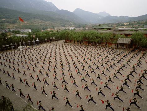 """من يقبل التحدي ؟ كن قائدا في جيش من اقوي جيوش العالم """" الجزء الرابع """" - صفحة 17 Eightfish-students-practice-kung-fu-at-the-ta-gou-academy-in-shaolin-china"""