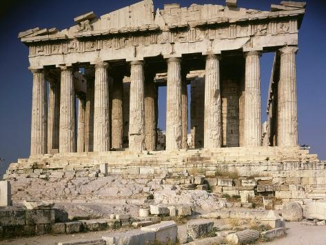 Prve poznate arhitekte iz davnina The-parthenon-477-438-doric-greek-architects-ictinus-and-callicrates-with-phidias