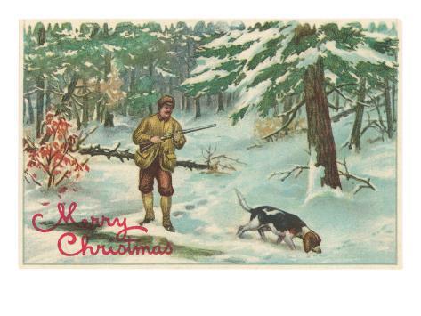 FELIZ NAVIDAD PARA TODOS!!!! Feliz-navidad-un-cazador-con-su-perro