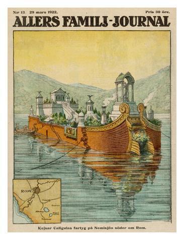 Los fabulosos navíos de Calígula en el lago de Nemi Caligula-s-floating-palace-on-lake-nemi-near-rome