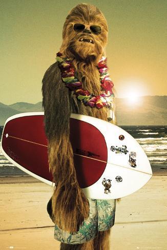 Lustiges zu StarWars - Seite 2 Star-wars-chewbacca-surfer