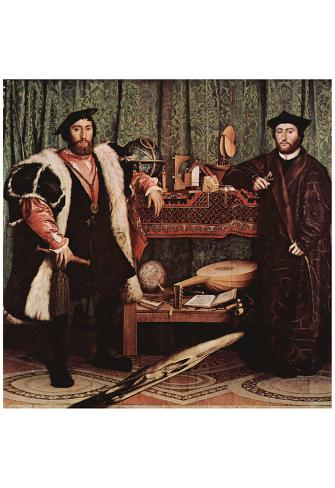 The Great Historical Captions Challenge! Hans-holbein-d-j-portrait-of-the-french-envoy-jean-de-dinteville-and-georges-de-selve-at-the-cou