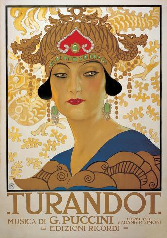 "Cartoline ""Vintage"" Turandot-g-puccini-vintage-style-italian-opera-poster"