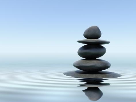 Reiki Music, Energy Healing, Nature Sounds, Zen Meditation. F9photos-zen-stones-in-water