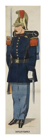 Evolution du casque de pompier FR 1812-2015 Sapeur-pompier-entre-1852-et-1870