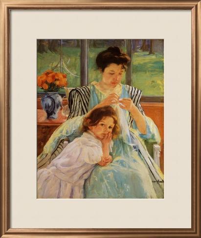 JUEGO POÉTICO Y DE IMAGINACIÓN-MAYO Mary-cassatt-young-mother-sewing_i-G-66-6635-JTME100Z