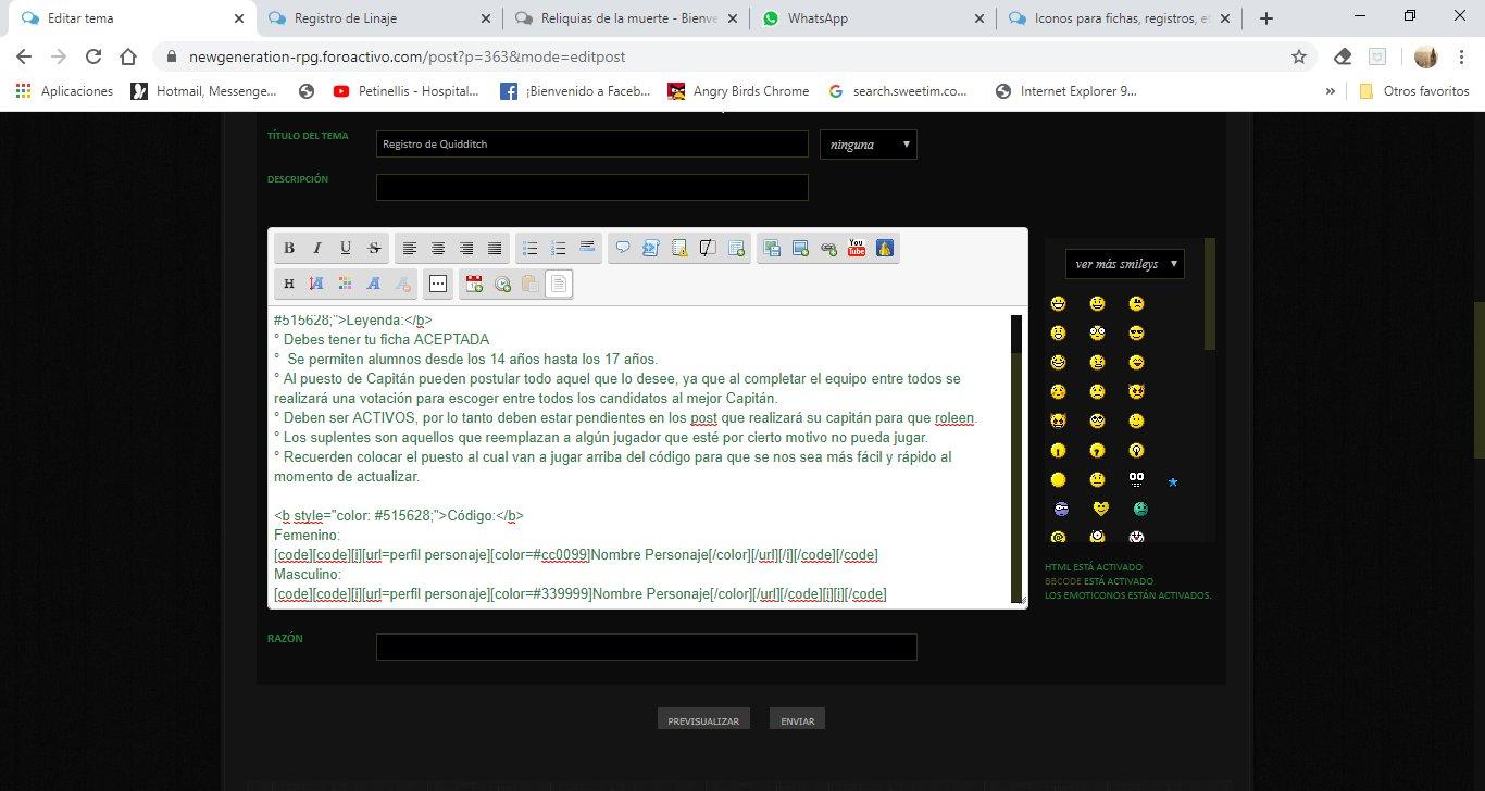se acorta el código al editar 9CVMjes