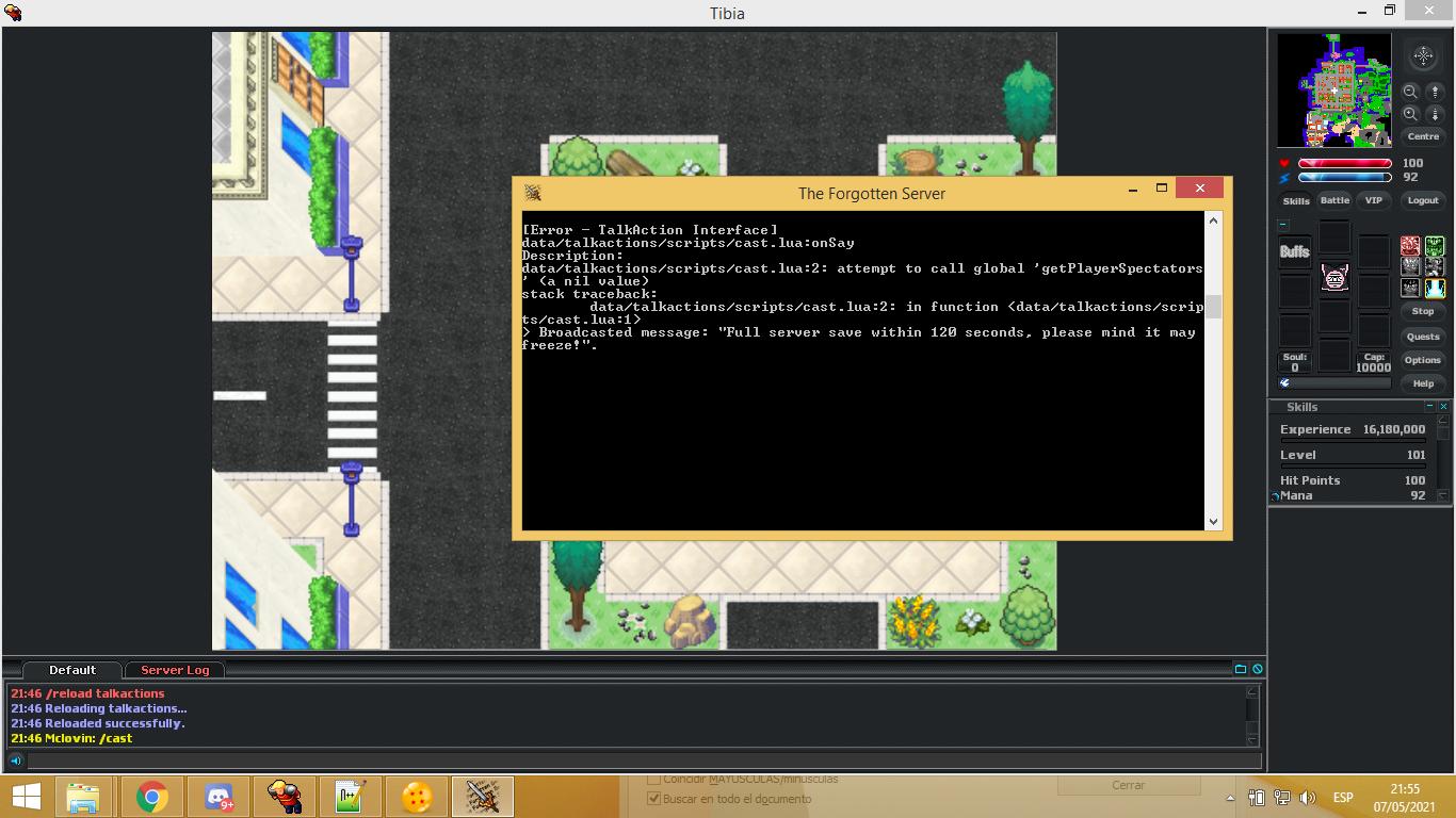 error cast system tfs 0.3.6 OvHqm71
