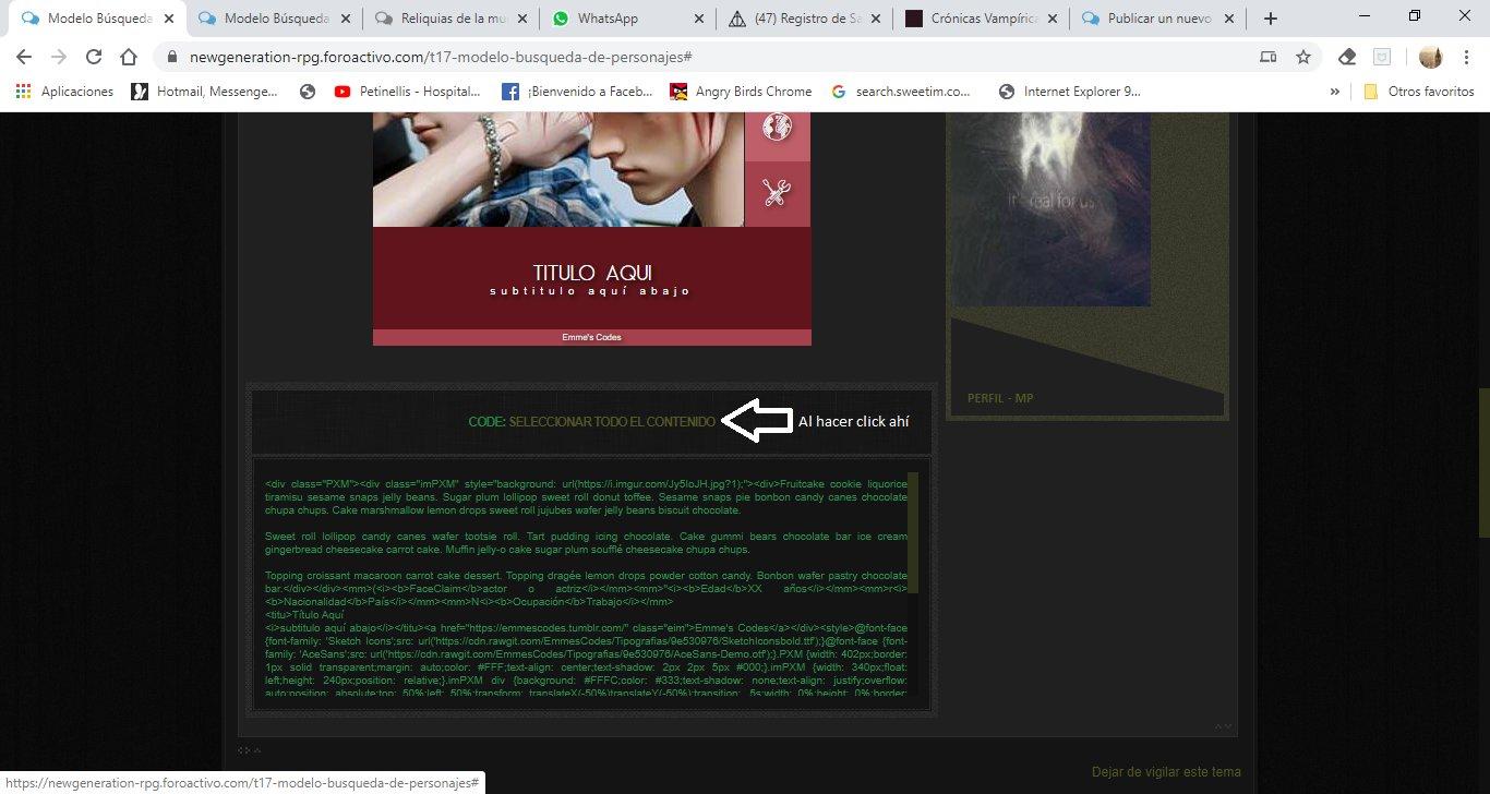 código de seleccionar el contenido YrgTlhA