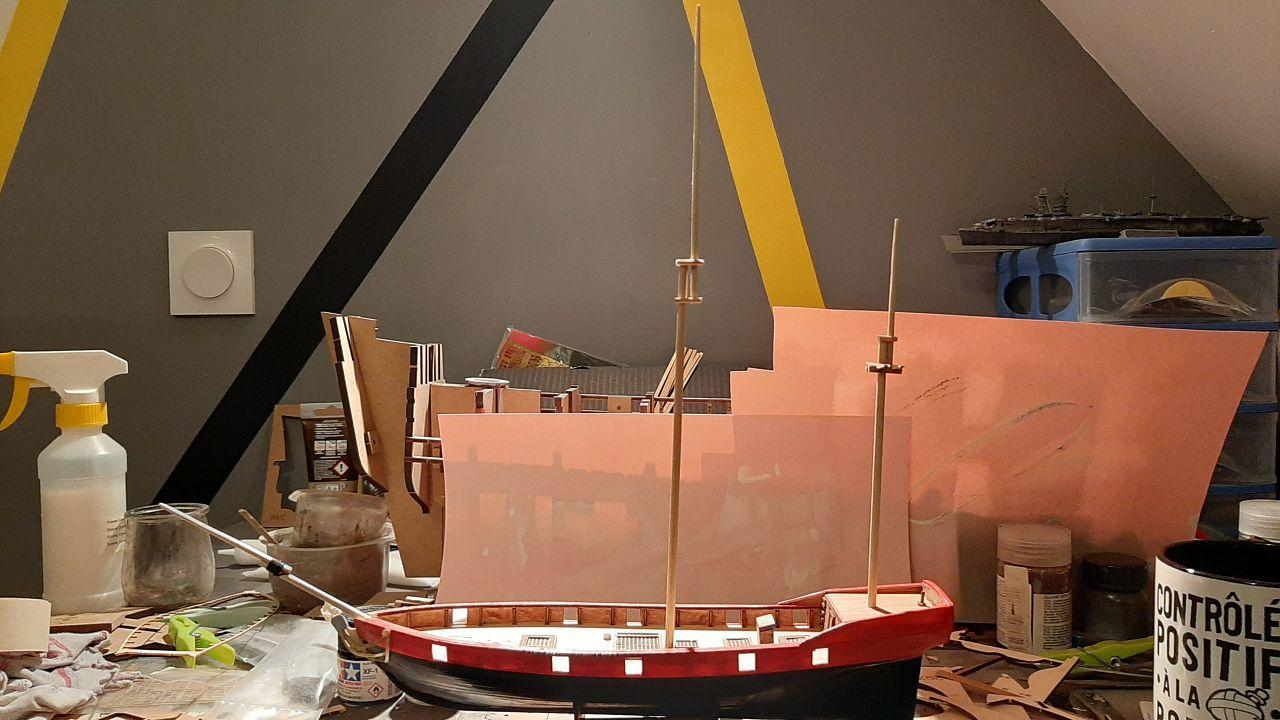 Galiote du pirate Rackham Le Rouge 1/100 (Tintin - le secret de la licorne) GbKBtNkT