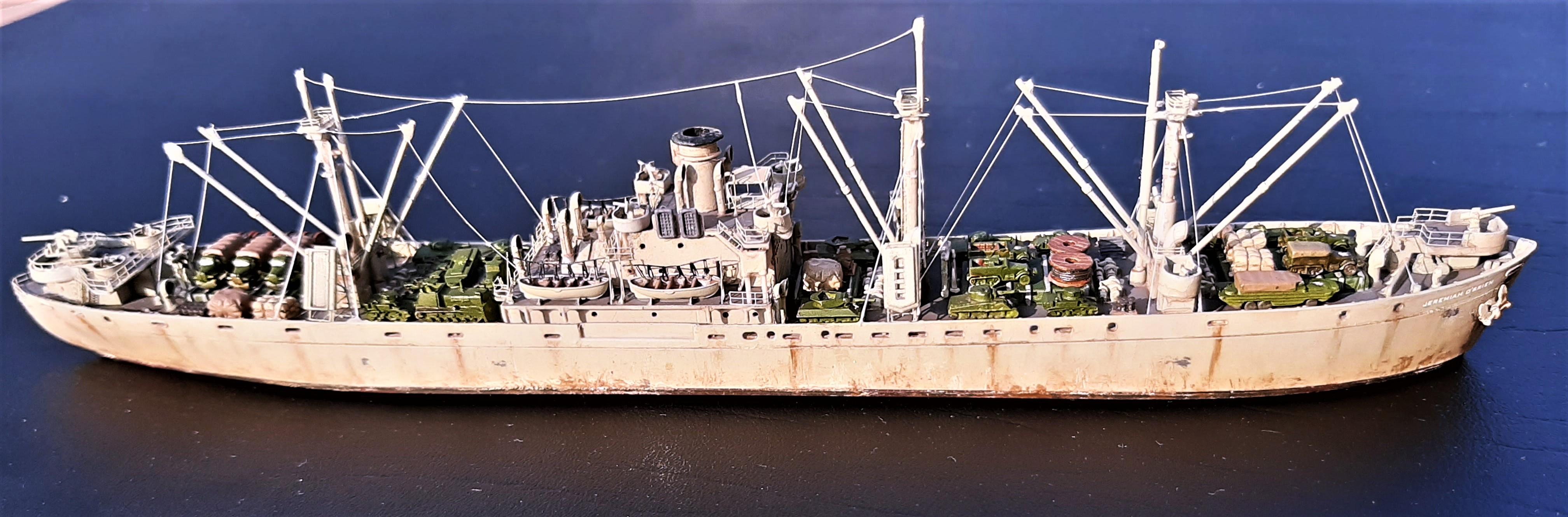 Liberty ship Jeremiah O'Brien 1/700 Trumpeter  SwRge
