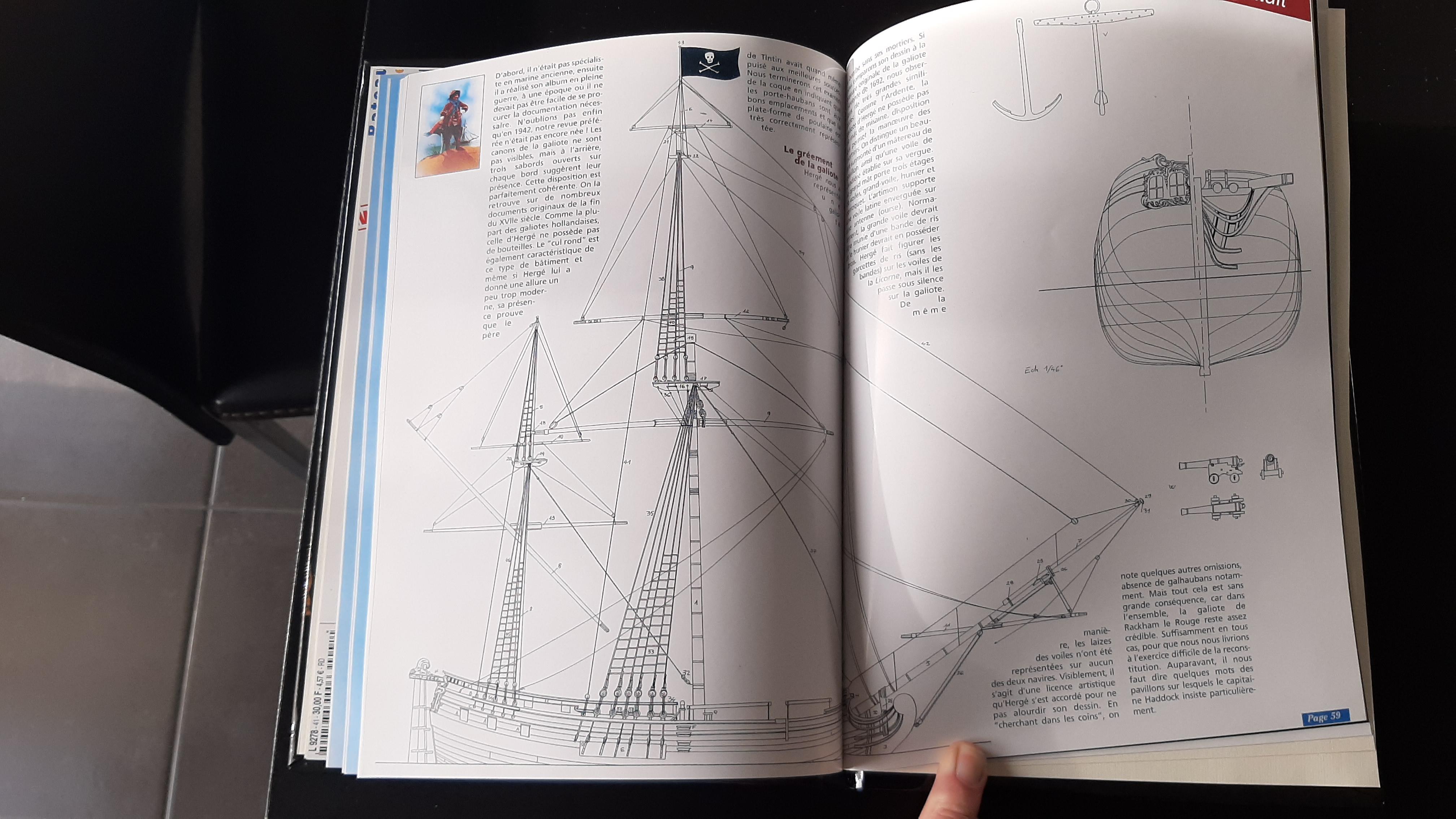 Galiote du pirate Rackham Le Rouge 1/100 (Tintin - le secret de la licorne) 7nob8