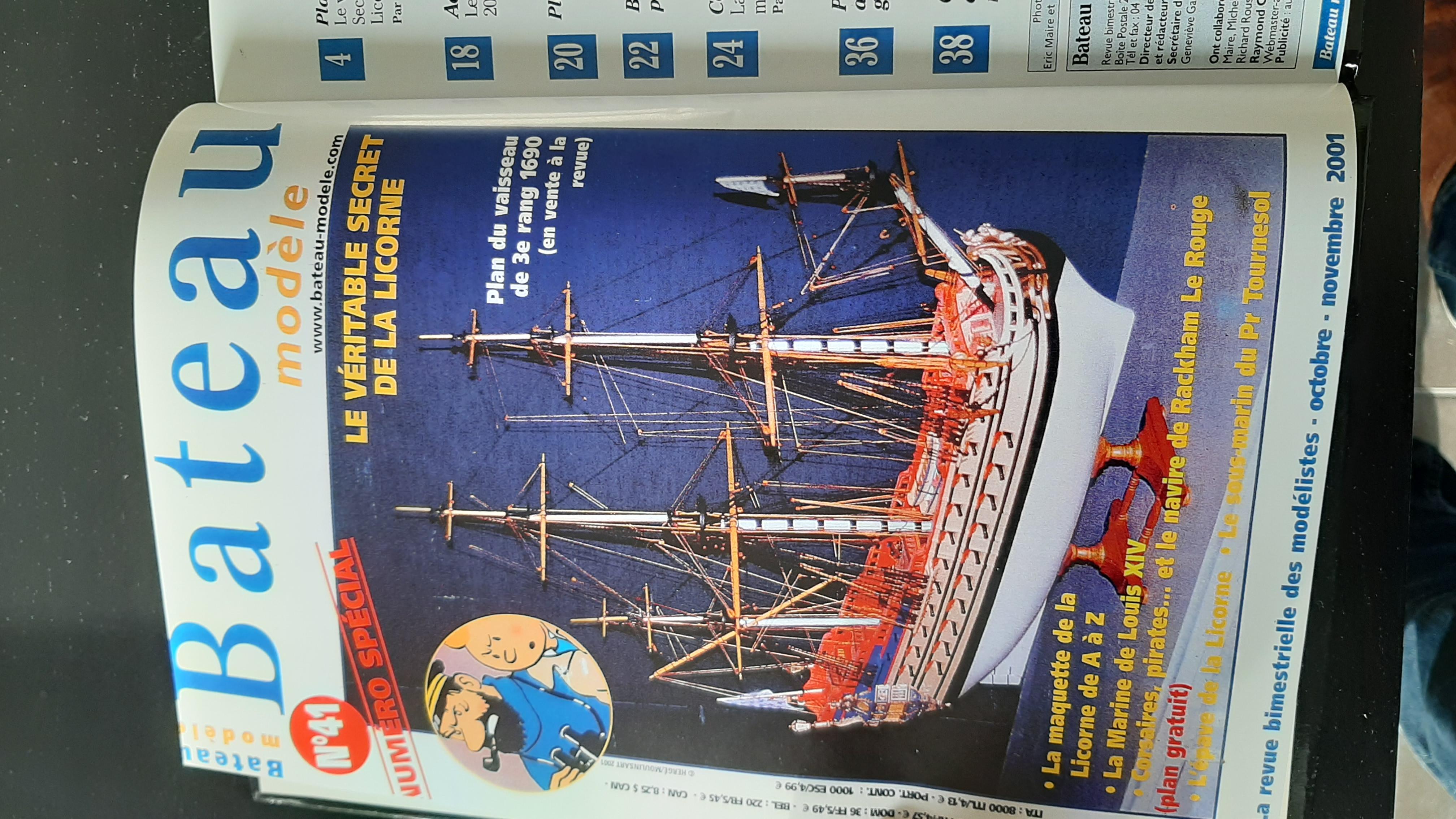 Galiote du pirate Rackham Le Rouge 1/100 (Tintin - le secret de la licorne) KW4wm