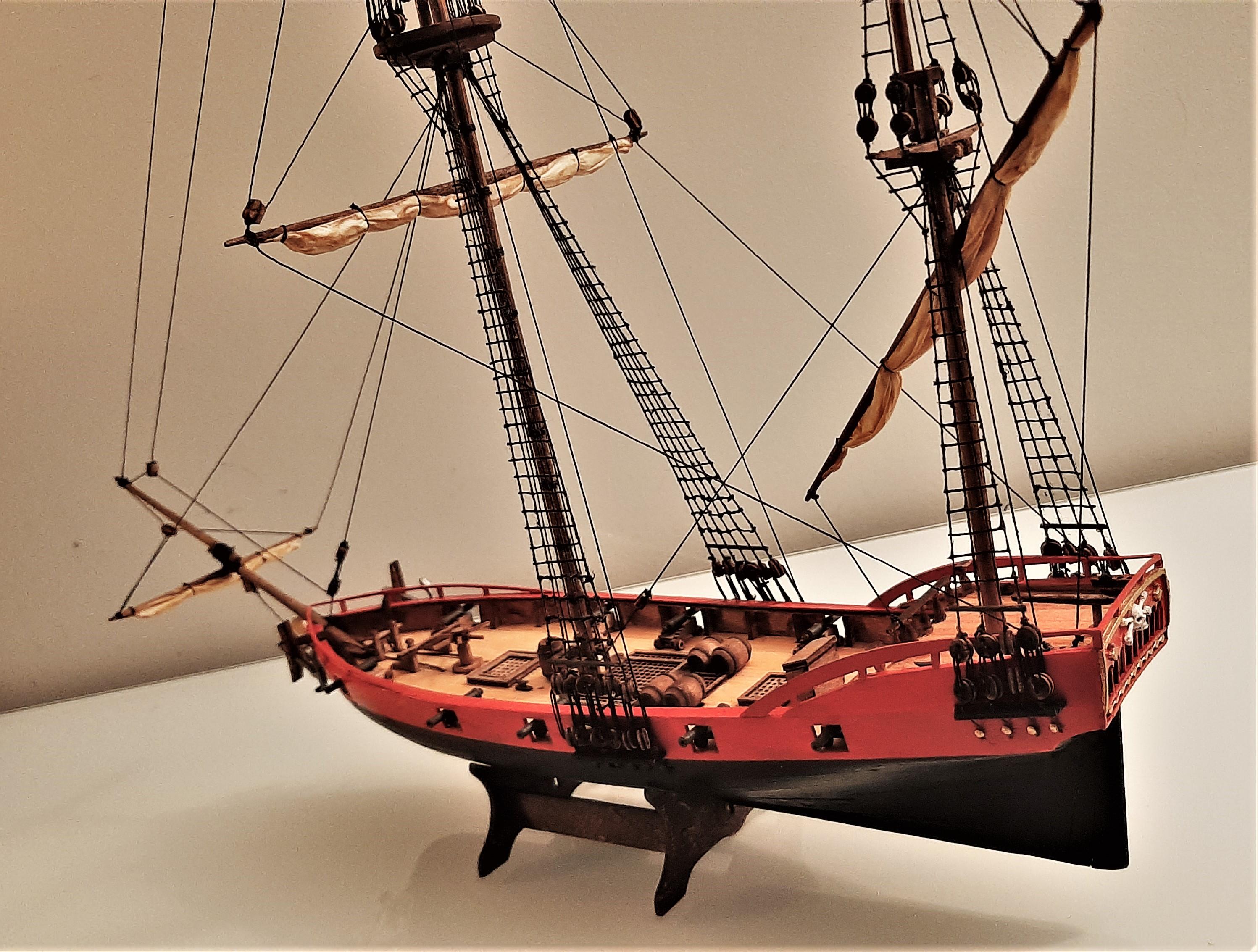 Galiote du pirate Rackham Le Rouge 1/100 (Tintin - le secret de la licorne) V8zJBOQ