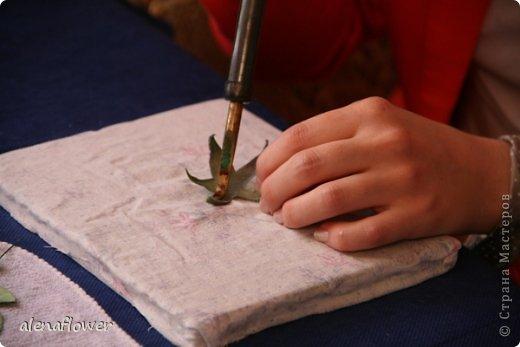 """Мастер класс. Цветы из шелка в технике somebana с элементами техники """"Живой цветок"""". Шиповник. 13_24_13"""