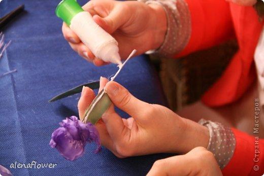 """Мастер класс. Цветы из шелка в технике somebana с элементами техники """"Живой цветок"""". Шиповник. 13_24_17"""
