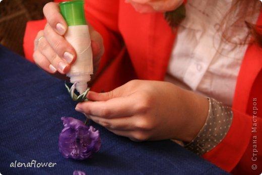 """Мастер класс. Цветы из шелка в технике somebana с элементами техники """"Живой цветок"""". Шиповник. 13_24_18"""