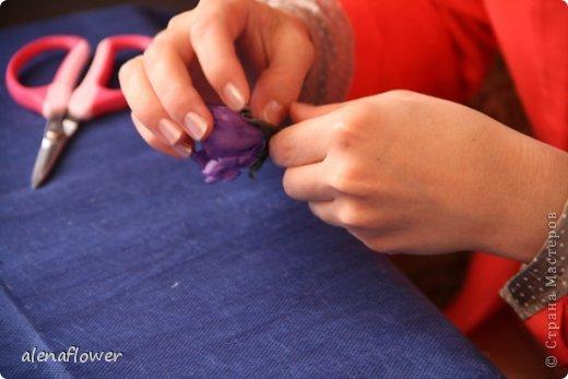 """Мастер класс. Цветы из шелка в технике somebana с элементами техники """"Живой цветок"""". Шиповник. 13_24_19"""