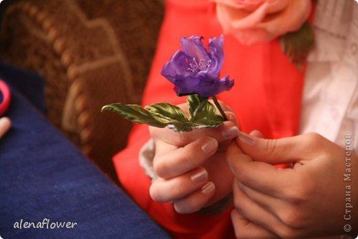 """Мастер класс. Цветы из шелка в технике somebana с элементами техники """"Живой цветок"""". Шиповник. 13_24_23"""