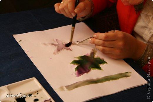 """Мастер класс. Цветы из шелка в технике somebana с элементами техники """"Живой цветок"""". Шиповник. 13_24_3"""