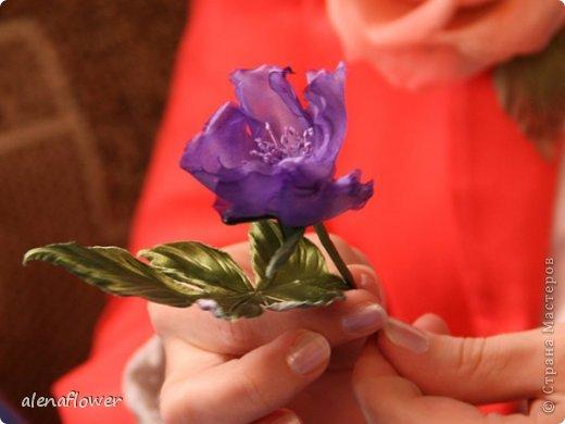 """Мастер класс. Цветы из шелка в технике somebana с элементами техники """"Живой цветок"""". Шиповник. 13_24_23_w"""