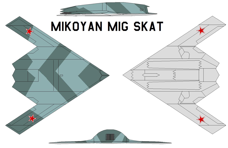 لمقاتلة الروسية للجيل الخامس قد تتزود برادار واعد - صفحة 3 Mikoyan_MiG_Skat_by_bagera3005