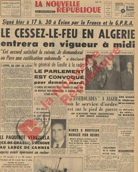 HISTOIRE DES ACCORDS D'EVIAN: soit disant la fin de la guerre d'Algérie 82372069_p