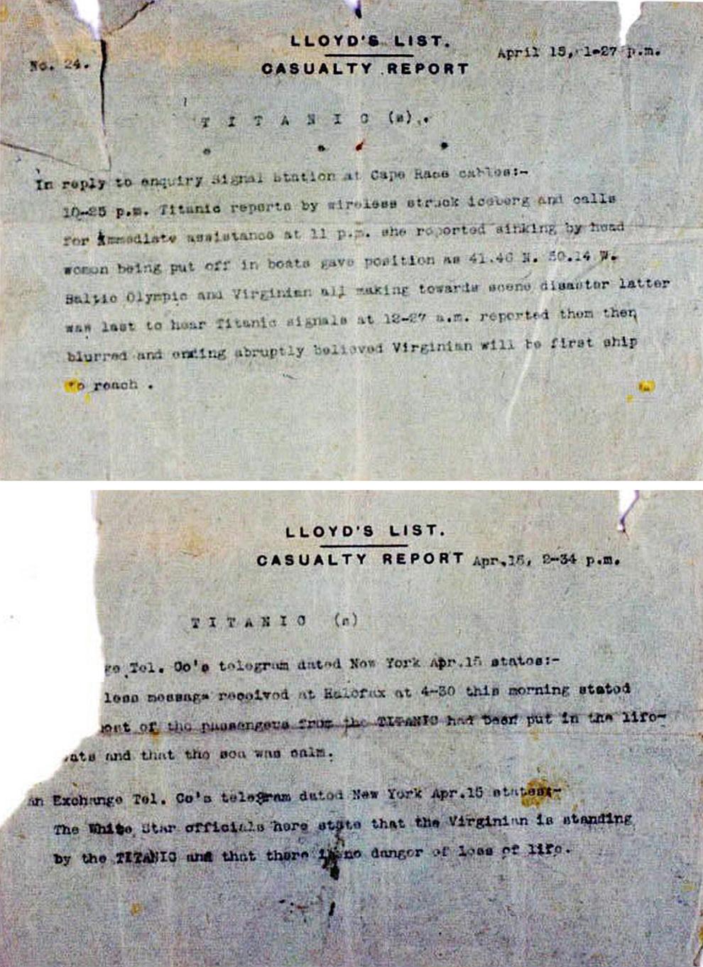 Il y a 100 ans, le naufrage du paquebot Titanic Bp19