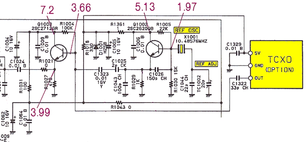 Yaesu FT890 : Dérive en fréquence  Local-unit-tcxo-osc-schema