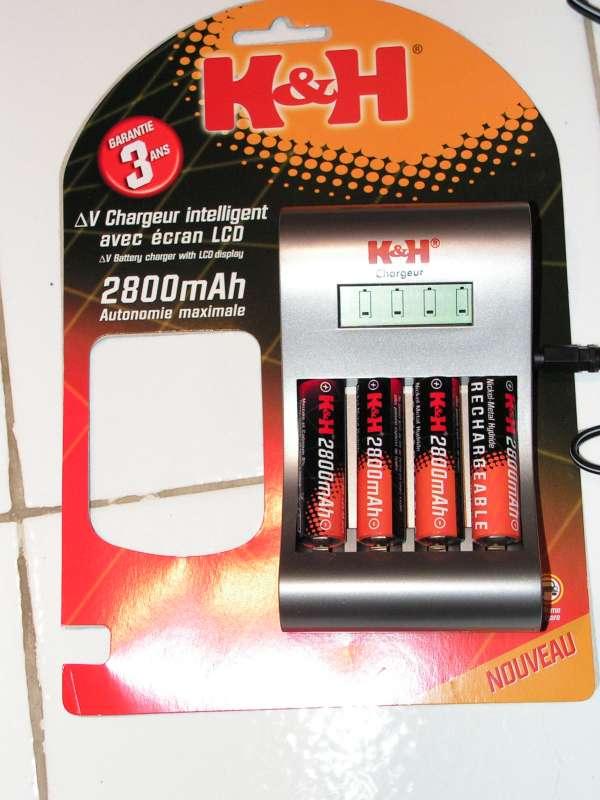 Chargeur accus R3 & R6 : Possible de ne charger qu'un seul accumulateur ! Chargeur-accu