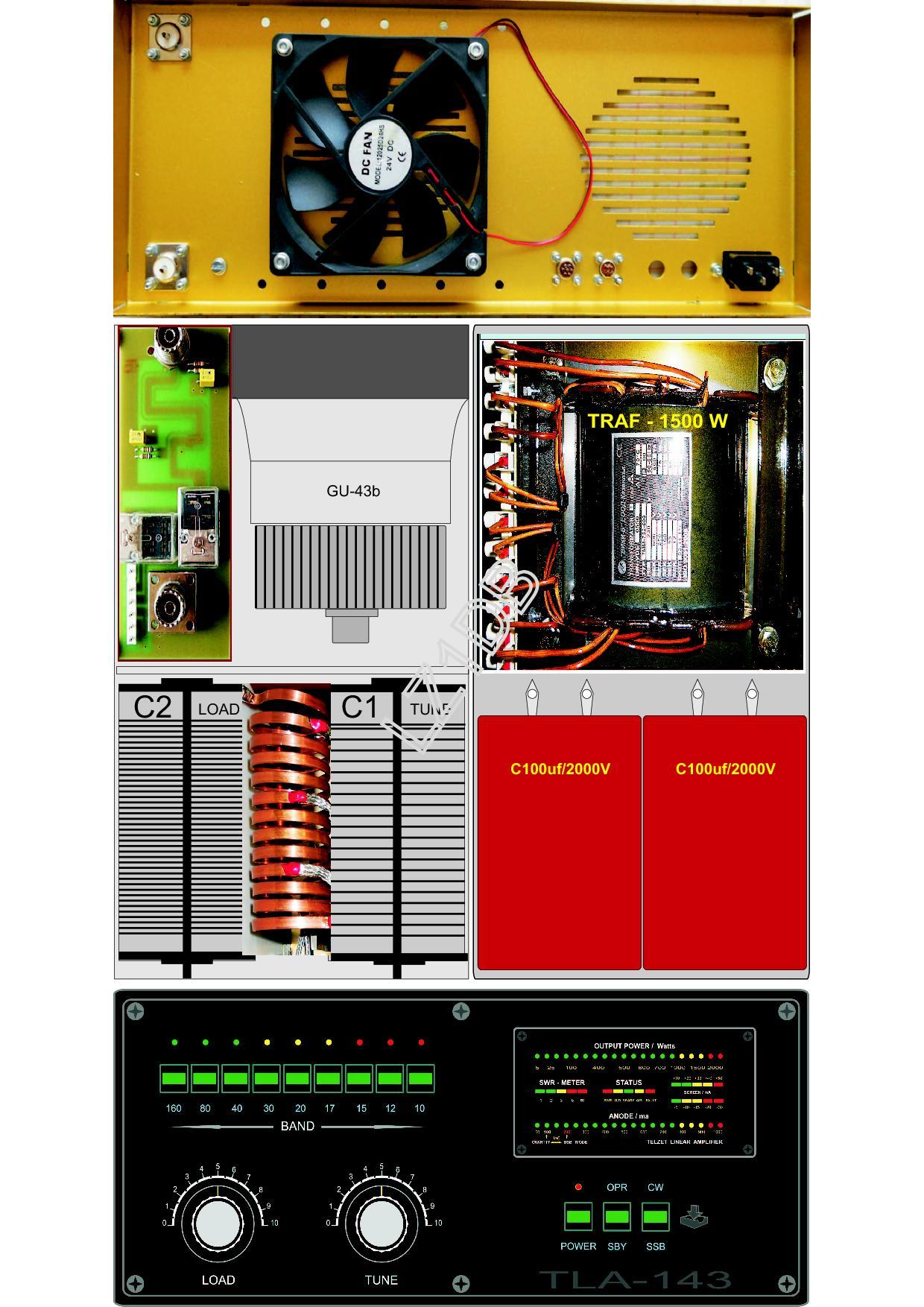 Amplificateur radioamateur HF - Prix bas attractif - Très bonne réalisation Tla143