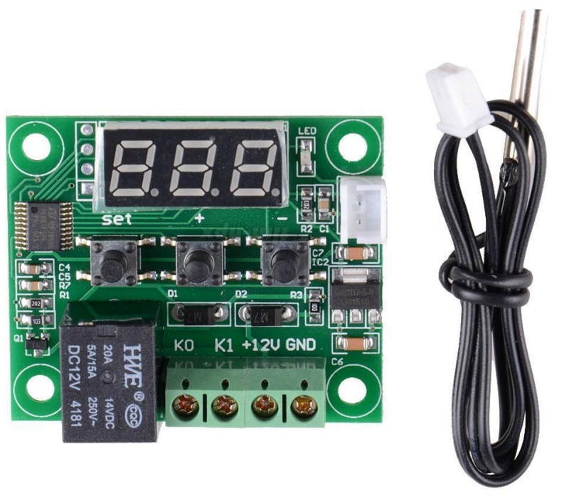 Thermostat numérique Low cost (pour déclenchement d'un ventilateur, par exemple) W1209-thermostat