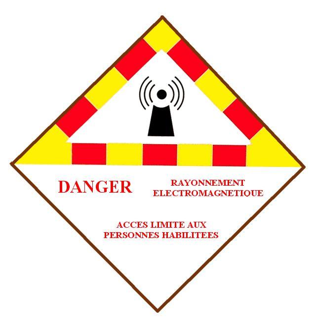 Antenne radioamateur : Calcul des distances de sécurité  Panneau