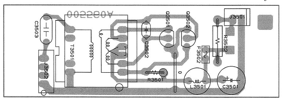 FT1000 Yaesu : Panne inverter - retroeclairage - affichage Implantation-platine-inverter