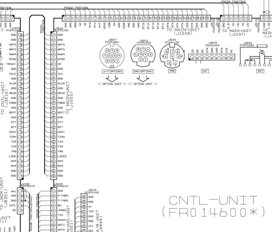 FT2000 Yaesu : Voyant TX clignotant au démarrage - Absence de passage en émission 04-mic-entree-ptt-sur-ctrl-unit