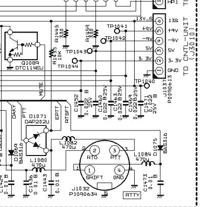 FT2000 Yaesu : Voyant TX clignotant au démarrage - Absence de passage en émission 06-diode-eptt-main-unit