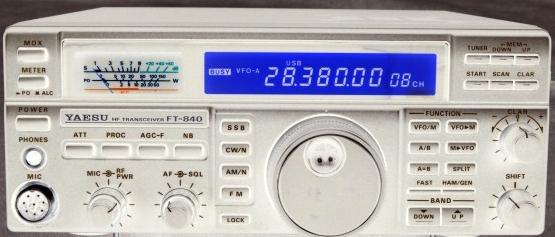 FT840 Yaesu : Panne totale - L'émetteur-récepteur ne s'allume pas (uniquement rétroéclairage du S-mètre) Ft840