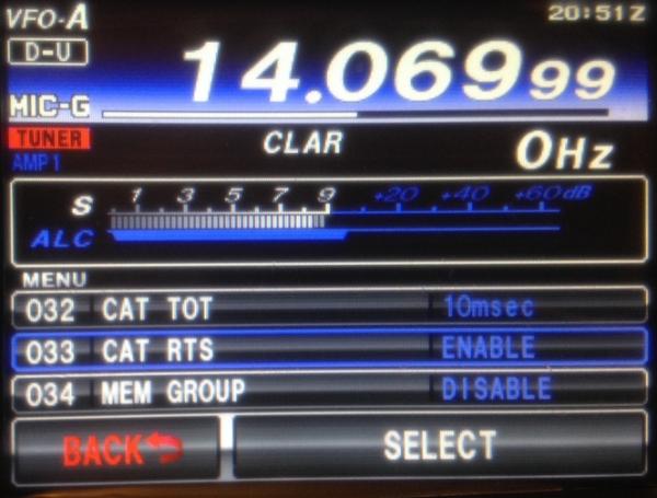 FT991 : Réglages en mode numérique (PSK, ...) - Exemple 02