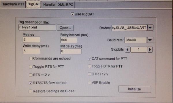 FT991 : Réglages en mode numérique (PSK, ...) - Exemple 07