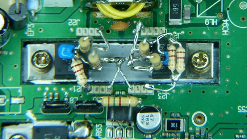 IC7400 : Fragilité des transistors Drivers - Dépannage & Opérations préventives Modif-RD15HFV1