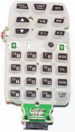 HM151 : Amélioration du microphone de l'IC7000 Clavier-souple-assemble