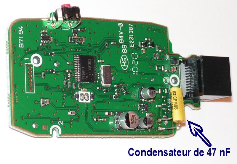 HM151 : Amélioration du microphone de l'IC7000 Hm151-condensateur-47nf-wm61