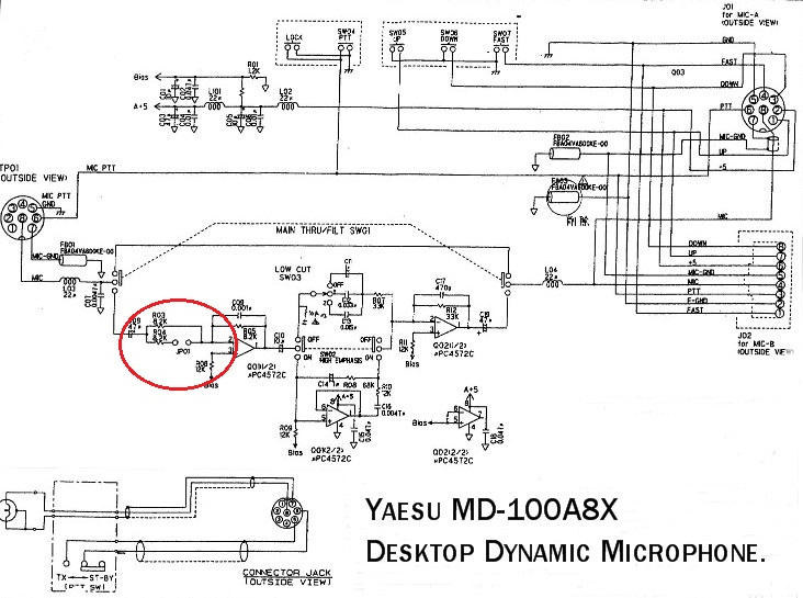 md100 - MD100 : Augmenter de 3dB le niveau d'entrée Md-100-circuit