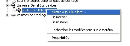 Configuration clé RTL SDR : Driver et logiciels 08-mettre-a-jour-pilote