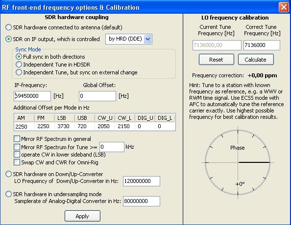 Configuration clé RTL SDR : Driver et logiciels Hdsdr09