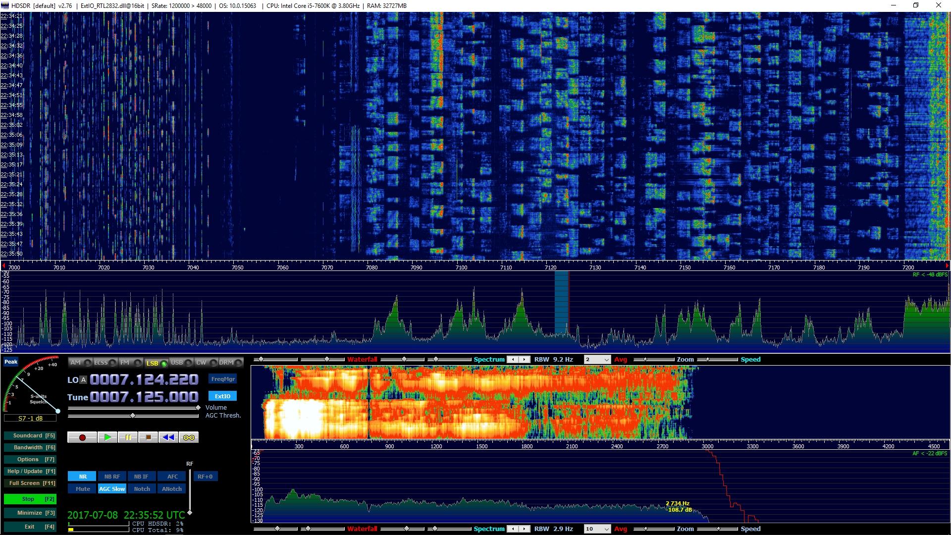 Clé RTL SDR R820T2 de Technofix UK largement supérieure aux autres Reception-spectre