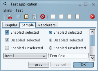 تعلم كيفية إنشاء تطبيقات ذات وجهة رسومية جذابة فى الجافا باستخدام المكتبة Substance look&feel Businessbluesteel1