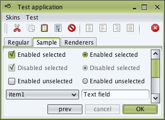 تعلم كيفية إنشاء تطبيقات ذات وجهة رسومية جذابة فى الجافا باستخدام المكتبة Substance look&feel Sahara1